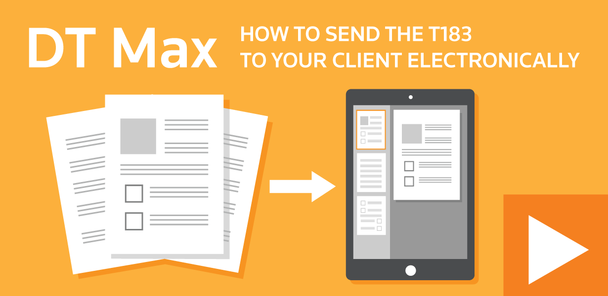 How to send the T183 to your client electronically