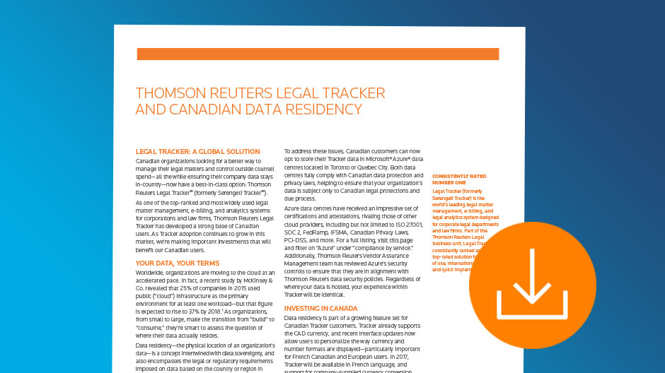 Legal Tracker Data Residency Download