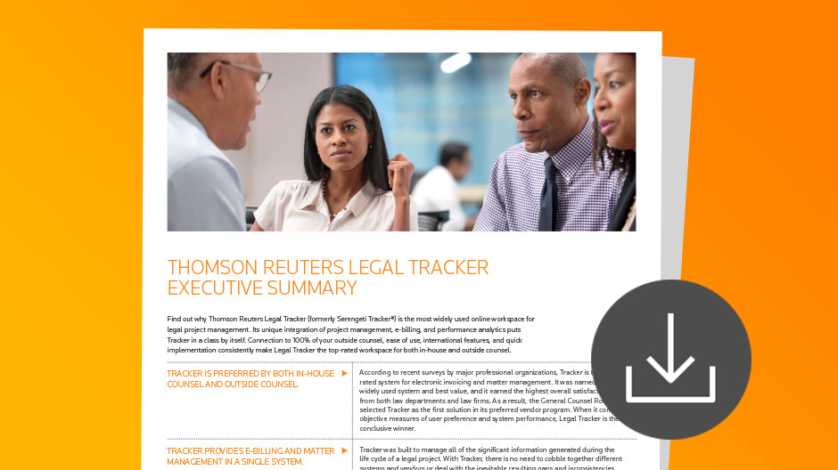 Legal Tracker Executive Summary Download