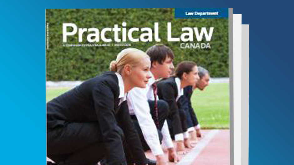 Practical Law Canada Magazine Cover