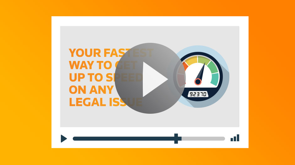 WestlawNext Canada Video - Get up to speed with a legal issue