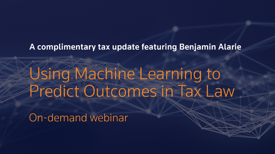On-demand webinar: Using Machine Learning to Predict Outcomes in Tax Law