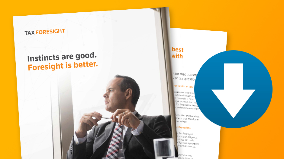 Tax Foresight: Download the brochure