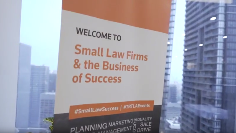 Video - Small Law Firms & the Business of Success Video Series: Being profitable: Measuring what matters to your bottom line